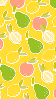 Lemon & co sunny 1,40m x 2,20m folded reusable tablecover
