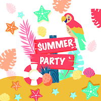 Summer party 33x33 cm napkins