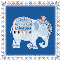 Serviettes Pondichery blue 33x33 cm