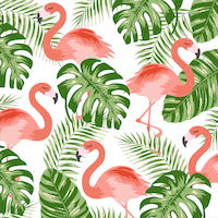Flamingo green 33x33 cm napkins