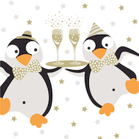 Servetten Pingui party 33x33 cm