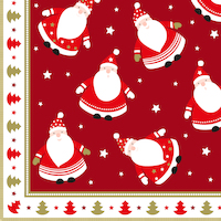 Singing santa red 40x40 cm napkins