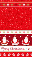 Singing santa red 1,40m x 2,20m folded reusable tablecover