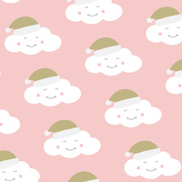 Xmas clouds blush 33x33 cm napkins