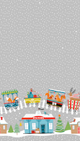Xmas train silver 1,40m x 2,20m folded reusable tablecover